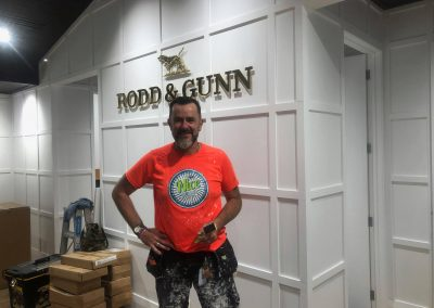 March 2018 - Nice Painting Company just finished the latest Shop-fit for the legendary RODD and GUNN in Auckland. Exhausting painting BUT great client and great style and design.