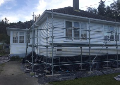 An Auckland house exterior being refreshed. - Nice Painting Company