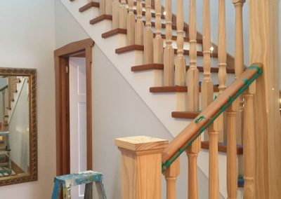 Staircase painting in progress, Auckland NZ - Nice Painting Company