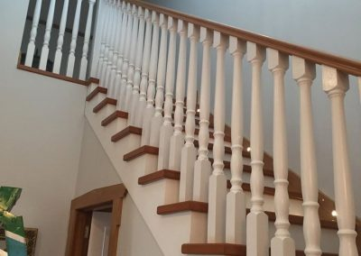 Staircase painting finished by Auckland's Nice Paint Co.