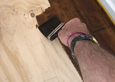 Wood floor restoration by Nice Paint Co