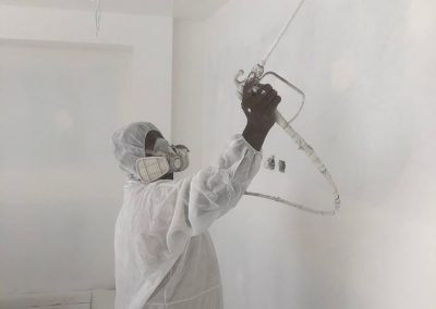 Interior spray painting by Auckland painting contractor Nice Painting Company